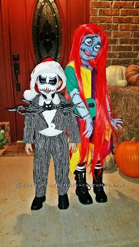 Cool Sally and Jack Skellington Child's Couple Costume... Coolest Halloween Costume Contest