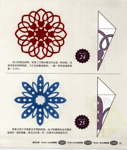 Snowflakes – DIY from paper and thread | PicturesCrafts.com
