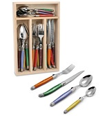 Laguiole Debutante Multicoloured Cutlery Set. Love. One day they will be mine!!