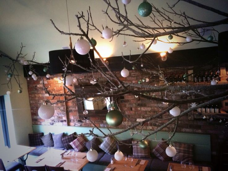 Christmas Decorations. Homemade. Floating Twigs. Enchanted