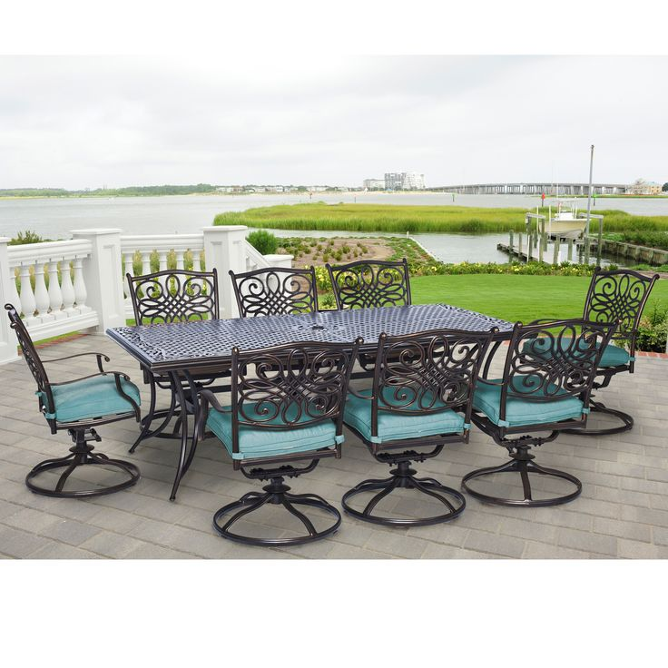 Dining Table Turn To The Traditions Set For Best Outdoor By Hanover