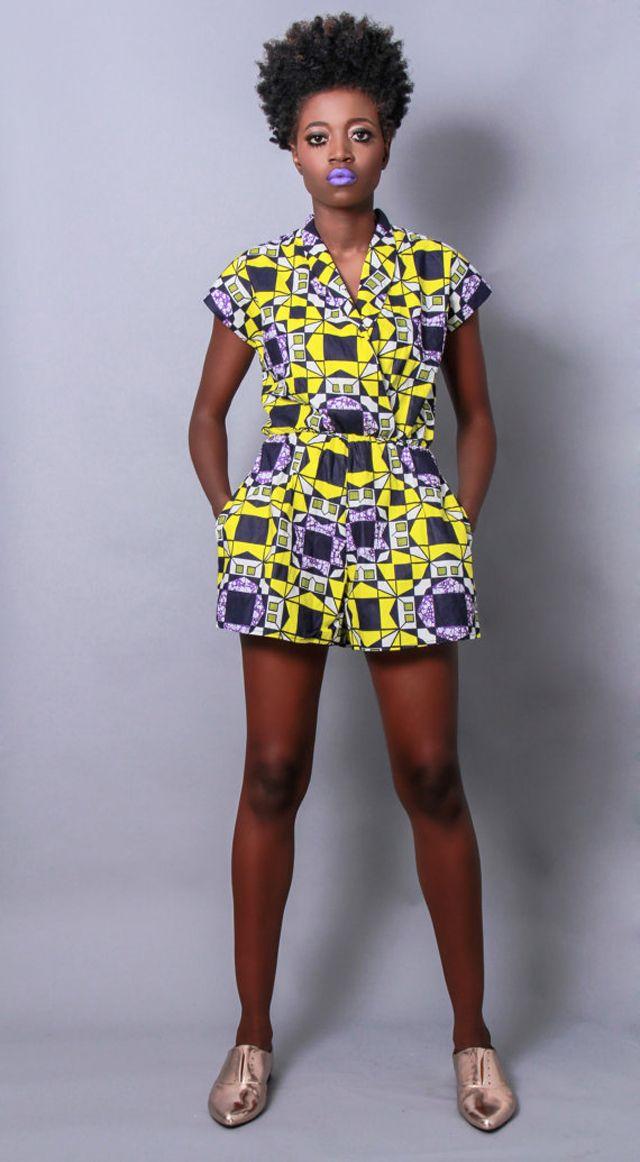 Demesticks Ny African Print Romper Kitenge Africanprint