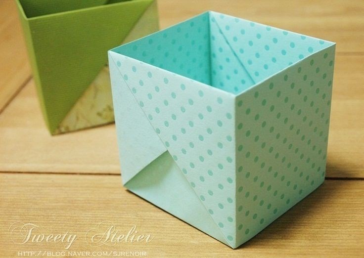 Origami / scatola origami - non c'è bisogno di colla in un singolo box ..A4 pieghe profonde: blog Naver