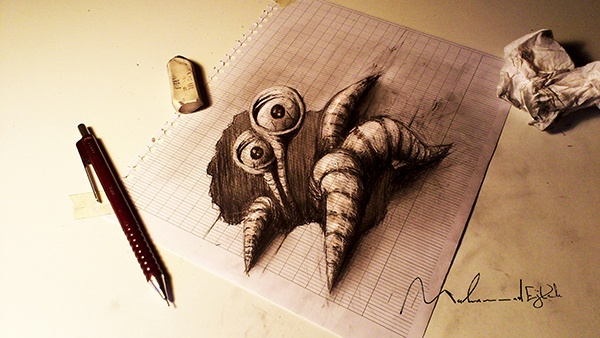 3D Pencil Drawings by Muhammad Ejleh