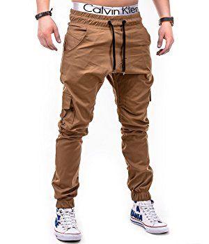 BetterStylz MasonBZ Herren Cargo Chino Jogger Hose Pant Slim Fit Cargotaschen Army Style 8 Farben (XS-5XL) (Medium, Beige): Amazon.de: Bekleidung