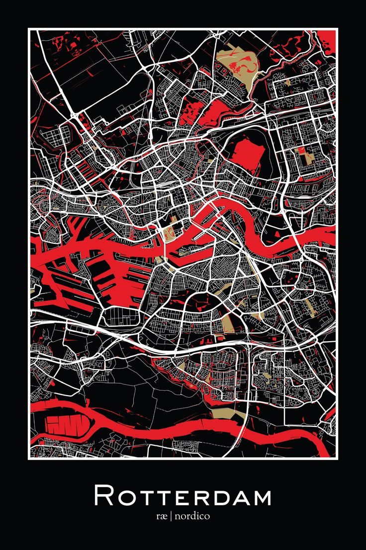 Rotterdam, Netherlands Map Print