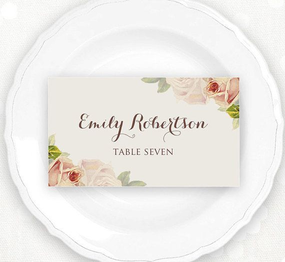 17 best ideas about printable place cards on pinterest print your own wedding escort cards. Black Bedroom Furniture Sets. Home Design Ideas