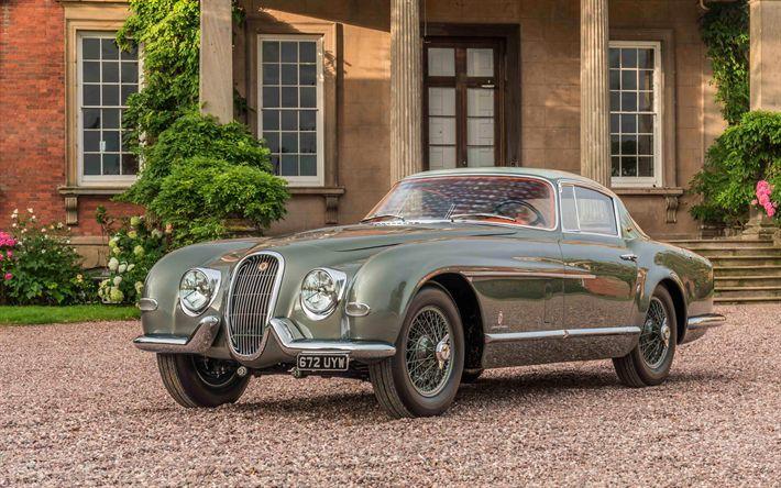 Download imagens Jaguar XK120 SE, 1954 carros, Pininfarina, retro carros, Jaguar