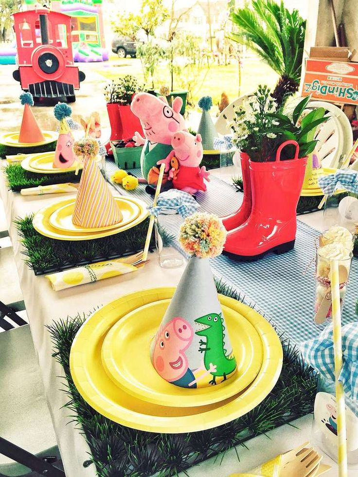 Peppa Pig Birthday Party Ideas | Photo 5 of 7 | Catch My Party