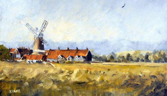 """Sanat dünyasının """"deha"""" gözüyle baktığı Küçük Monet'in (Kieoron Williamson) bir tablosu. Henüz 9 yaşında ve 24 adet manzara resmi 15 dakika içinde 250.000 sterline satıldı."""