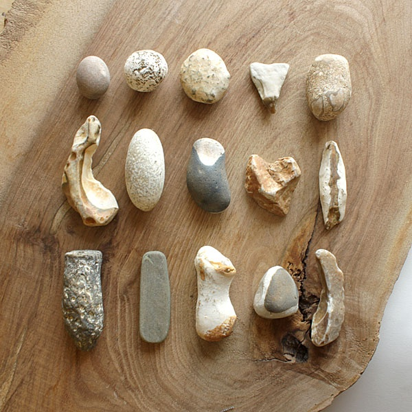 Flint stones from a UK beach
