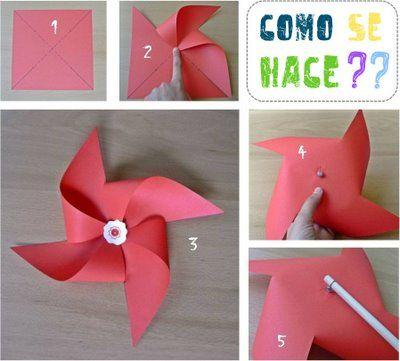 molinillo de viento pinwheel diy niños kids children miraquechulo