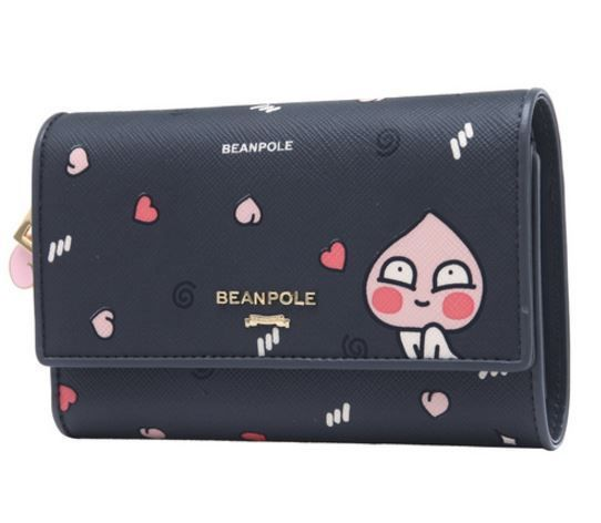 KAKAO Friends x Bean Pole Ash Trifold Wallet Miss A Suzy Limited Edi APEACH Purs #BeanPolexKAKAOFriends #Trifold