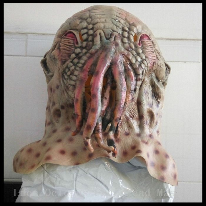 Hot Sale Party Cosplay Doctor Who Ood Movie Character Octopus Mask Halloween Horror Latex Animal Mask Party Holiday Gift Toys