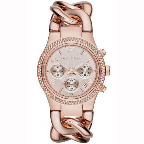 Michael-Kors-mk3247-senora-reloj-de-pulsera-reloj-cronografo-acero-inoxidable-Rose-nuevo-Box