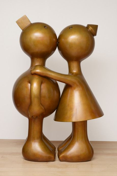 "Tom Otterness | ""Kissing Couple"", 2013"