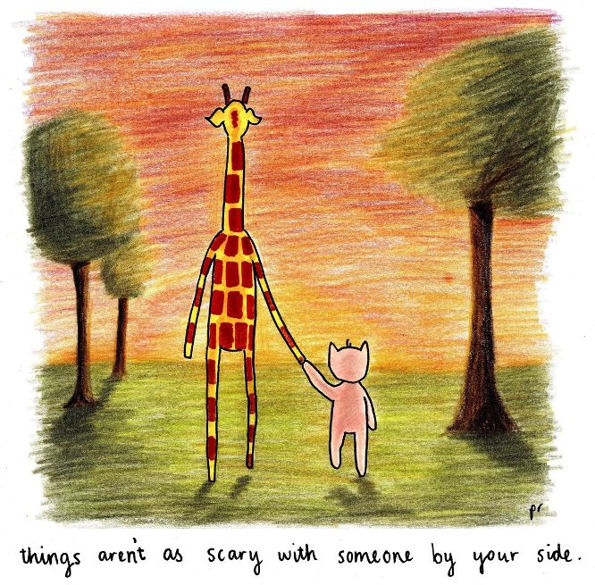 May 5, 2015 – By your side | Motivating Giraffe
