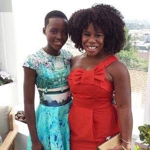 Lupita nyongo and Uzo Aduba from orange is the new black (crazy eyes)