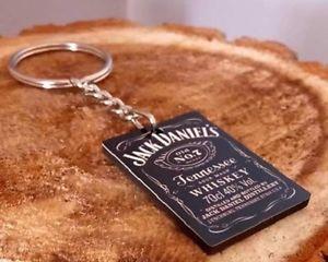 a porte cles bois jack daniels label black