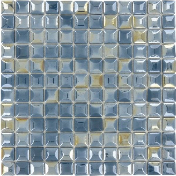 100 Recycled 1 X 1 Blue Glass Square Tile Glossy Iridescent Lag160 Iridescent Glass Tiles Glass Tile Blue Glass Tile