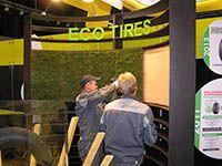"""Оформление газоном стенда компании DUNLOP на выставке """"Мотор Шоу 2012"""""""