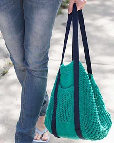 Go Green Market Bag by Lily  Sugar'n Cream (free pattern)