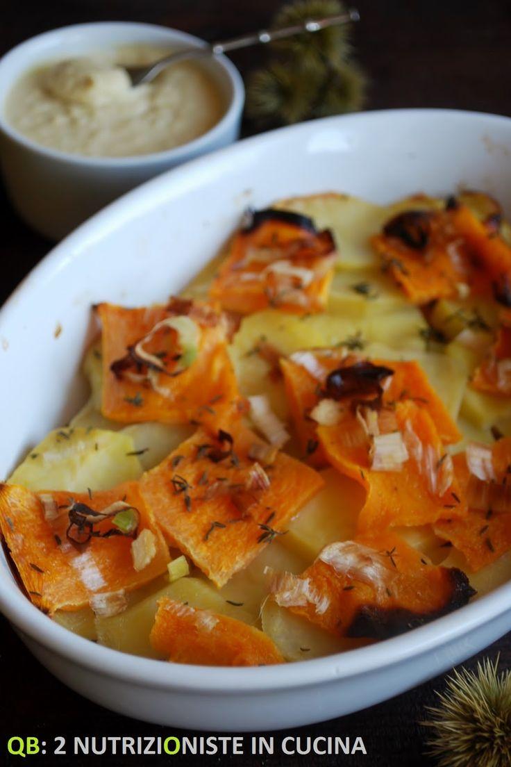 Q B Le ricette light: Verdure autunnali con crema di ceci e yogurt greco