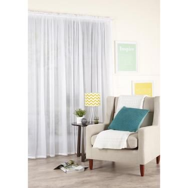 Filigree Eloquence Lace Rod Pocket Sheer Curtain