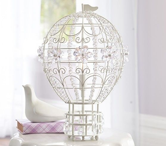 Hot Air Balloon Lamp | Pottery Barn Kids Make out of wire and beads put tea light in
