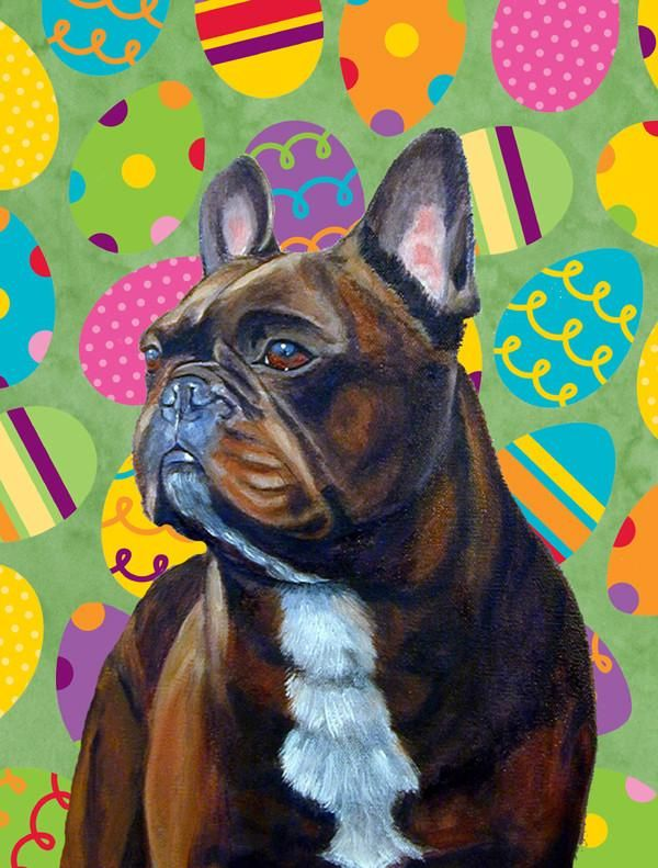 French Bulldog Easter Eggtravaganza Flag Canvas House Size