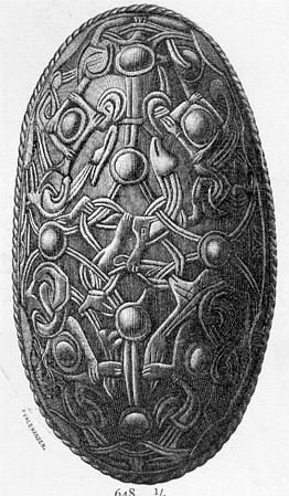 R-648 Norway late 800's, corresponding to JP 27, 28, 29, 30, 31 and 32 (Petersen 1928)  Petersen (1928:30) interprets the animal motif to be from the Oseberg style.  38 brooches are found (10 of them were gold plated).
