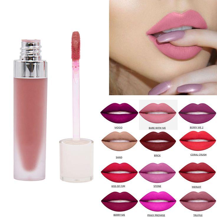 Crema Hidratante Nutritiva barra de labios líquida lápiz labial mate Impermeable Fácil de llevar maquillaje duradero brillo de labios