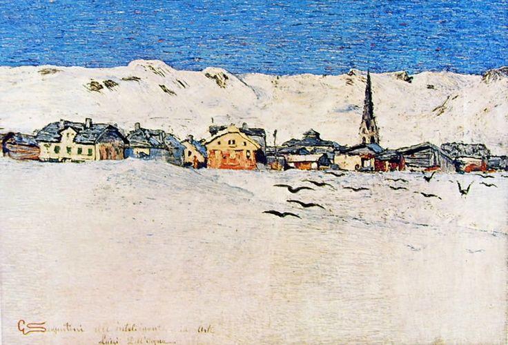Giovanni Segantini Savognino d'inverno, 1888-90 circa