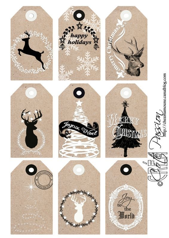 Côté Passion Christmas tags 2015