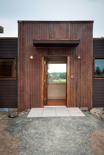 Rusted Corrugated Metal Entry Way Eastern Oregon Modern