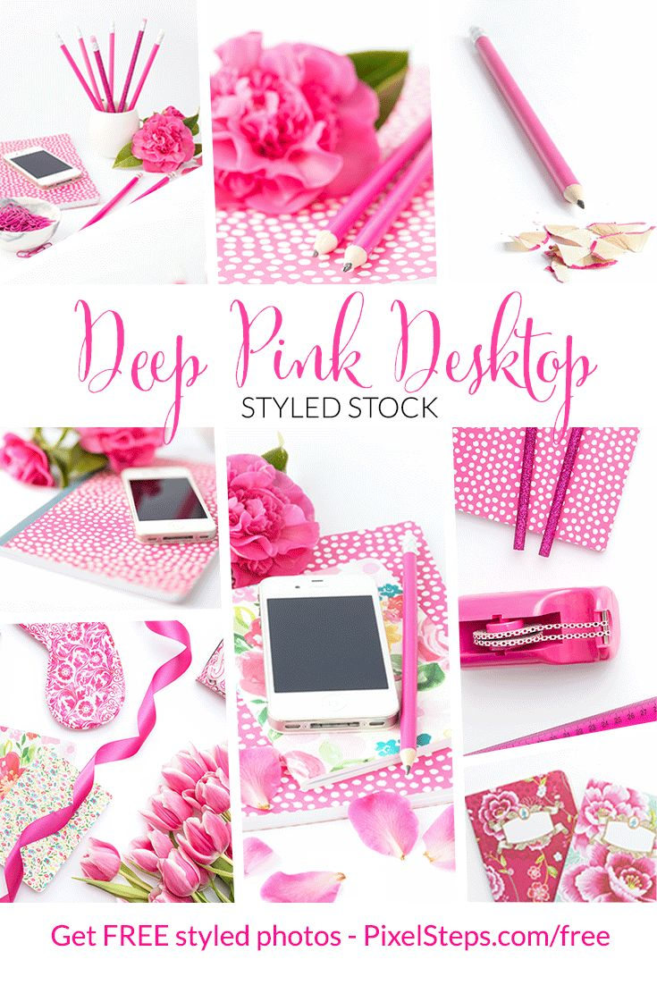 Fuchsia Pink Desktop Images to download today. Styled desktop stock photos for bloggers and Entrepreneurs. Get free photos too!