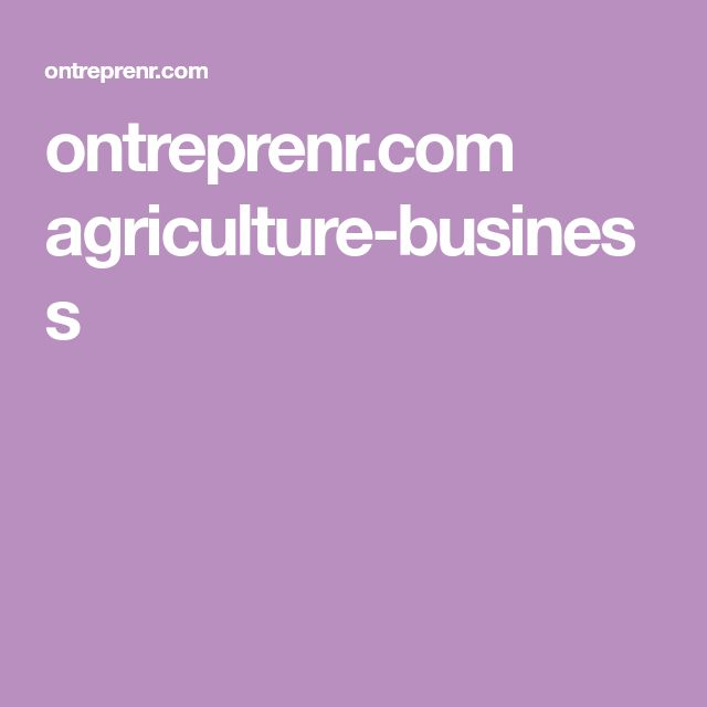ontreprenr.com agriculture-business