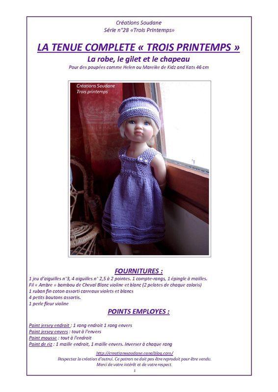 Mejores 579 imágenes de ROPA MUÑECA en Pinterest | Ropa muñeca, Ropa ...