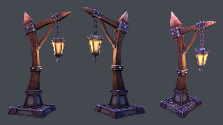 Streetlamp, Tobias Koepp on ArtStation at https://artstation.com/artwork/streetlamp