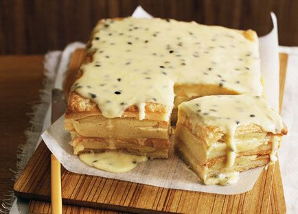 Australian Gourmet Traveller dessert recipe for passionfruit vanilla slice