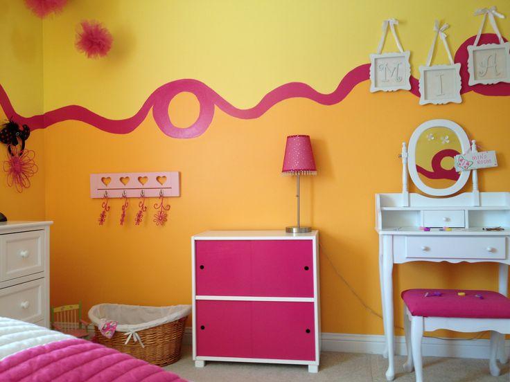 Cool Paint Idea Girls Room Ideas Pinterest
