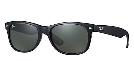 Ray-Ban NEW WAYFARER CLÁSSICO Preto com Verde Clássica G-15 lentes - Sale! Up to 75% OFF! Shop at Stylizio for women's and men's designer handbags, luxury sunglasses, watches, jewelry, purses, wallets, clothes, underwear