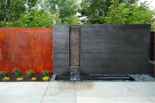 Modern Wall Fountains Large Outdoor Wall Fountains Modern Water