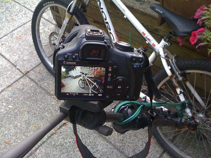 diy bicycle dslr camera mount