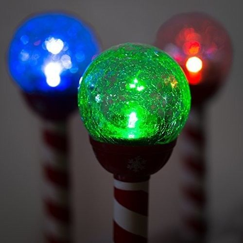 Lights LED Solar Pathway Christmas Crackle Color-Changing Holiday Landscape PATH #LEDSolars