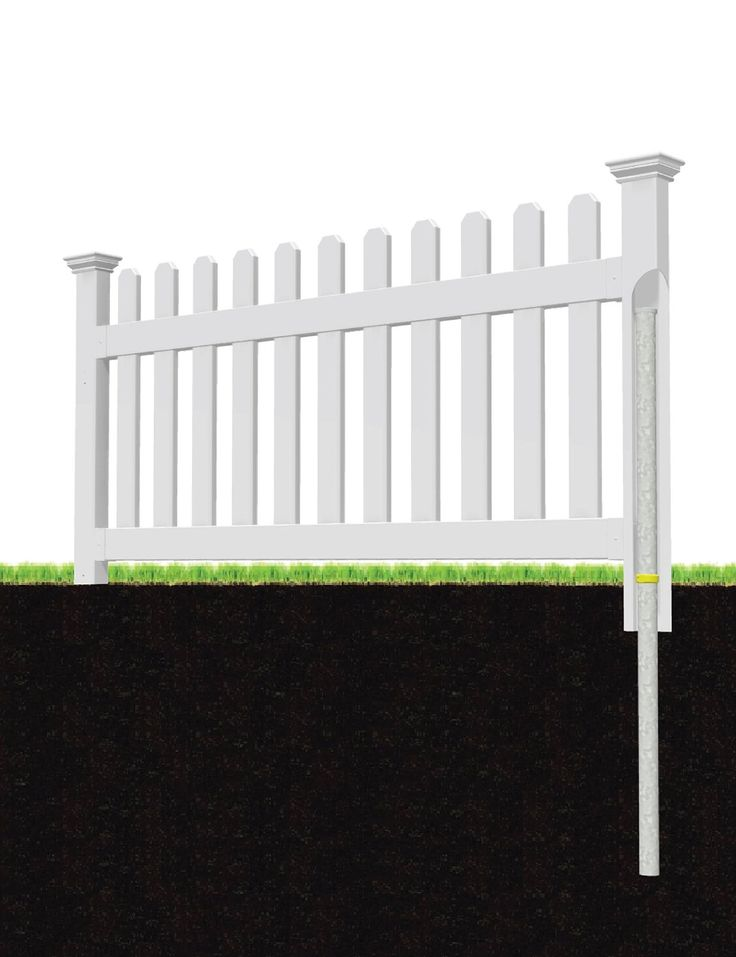Zippity Outdoor Products Zp19001 No Dig Vinyl Picket