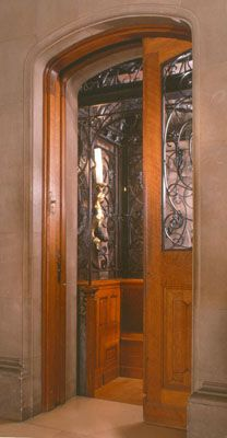 """""""One of the beautifully crafted passenger elevators in Biltmore House"""""""