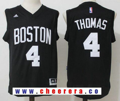 2e0f29783 Men s Boston Celtics  4 Isaiah Thomas All Black with White Stitched NBA  adidas Revolution 30 Swingman Jersey