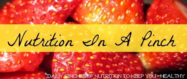 NUTRITION IN A PINCH