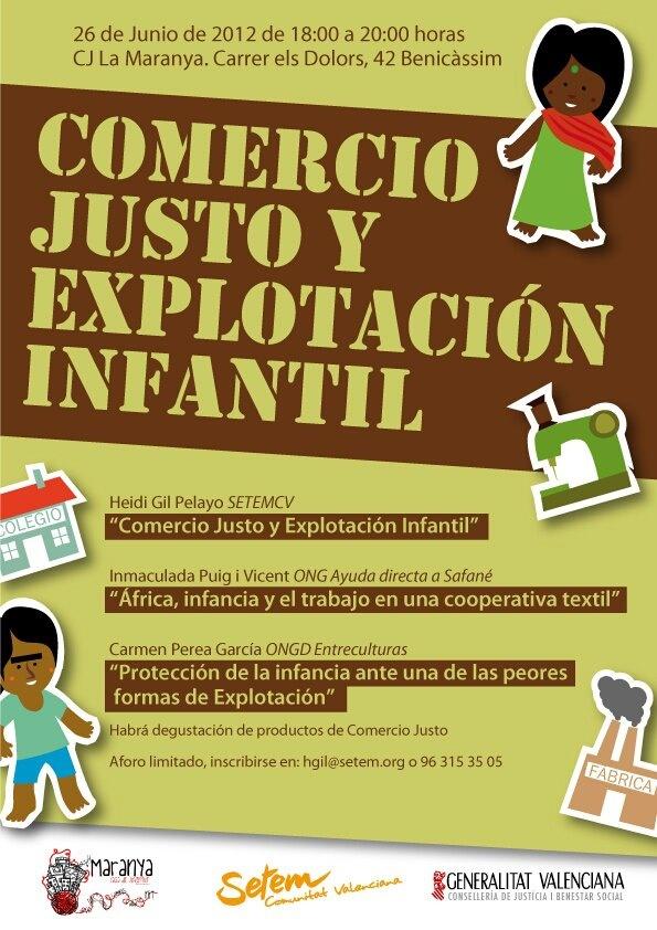 Comercio Justo y Explotación Infantil en Benicassim (Castellón)
